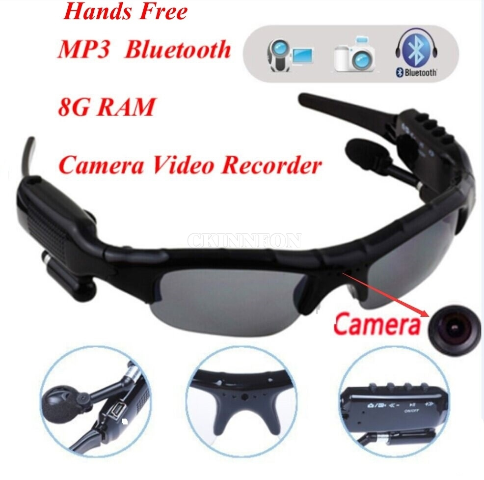 Dhl 10Pcs Sport Wireless Bluetooth Camera Eyewear -8560