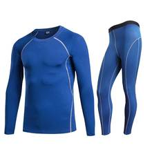 Men Pro Conpress Fitness Winter Thermal Underwear Set Quick Dry Gymming Male Spring Autumn Sporting Runs Yogaing Long Johns 3039
