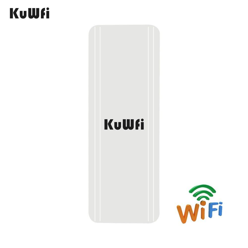 KuWFi extérieur CPE routeur Wifi Extender Qualcomm 9531 vitesse jusqu'à 300 Mbps sans fil CPE boîtier stabilisé avec IP65 étanche