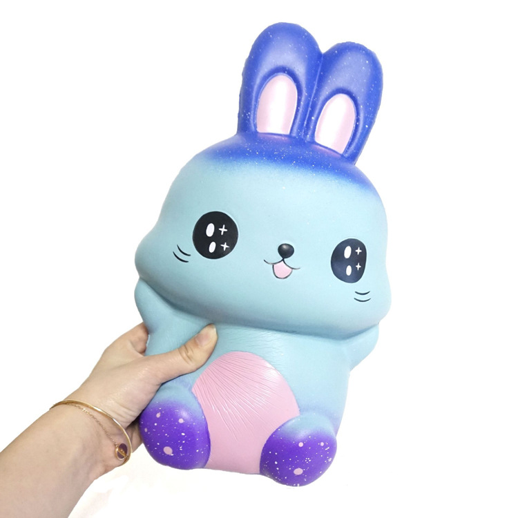 2019 New Big Jumbo Squishy Galaxy Rabbit Animal Large Squishies Kawaii Slow Rising Soft Bread Scented Squeeze Toy Stress Relief