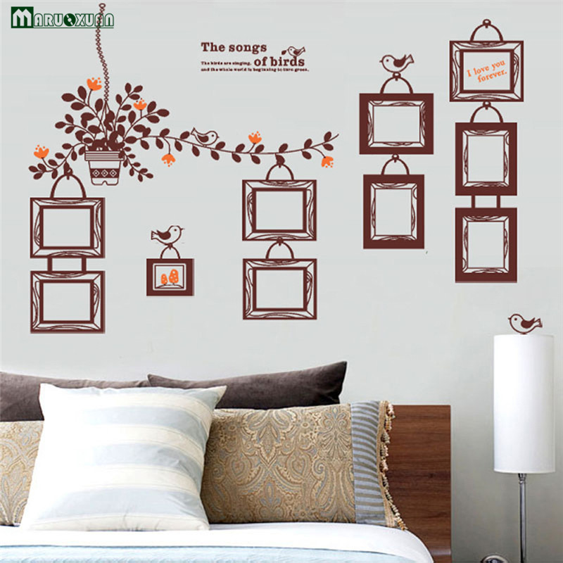 Picture Frame Wall Decals popular vinyl picture frame wall decals-buy cheap vinyl picture