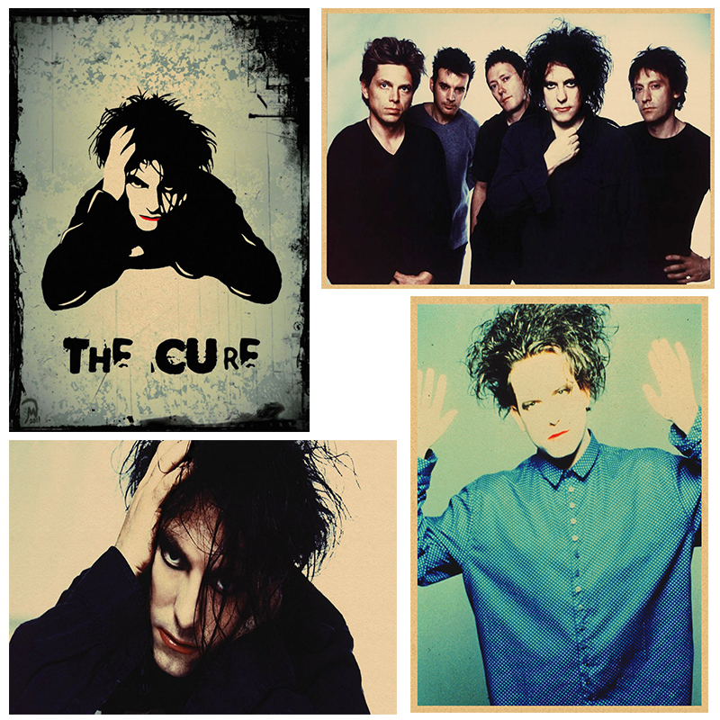 The Cure Rock Poster Kraft Paper Cafe Bar Poster Retro Poster  Wall Stickers 30x21cm