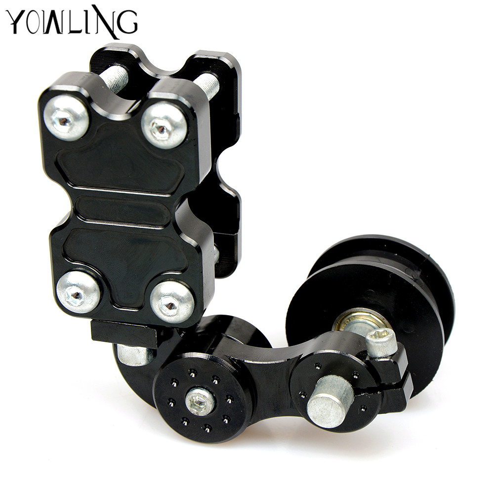 Adjustable Aluminum Chain Tensioner Bolt on Roller Motorcycle Chopper Dirt Bike for YAMAHA FJ-09 FZ-09 MT03 MT09 MT-09 MT07 YZF motorcycle adjustable aluminum chain tensioner adjuster bolt on roller motocross dirt street bike atv for honda kawasaki yamaha