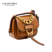 A1336 2017 LACATTURA real leather famous luxury handbags women bags Classic designer chain bolsa feminina makeup shoulder bag