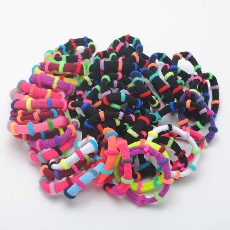 50Pcs Colorful Girls Hair Accessories Cute Hair Gum Ring For Baby Rubber Headbands Elastic Hairbands For Children  Gift
