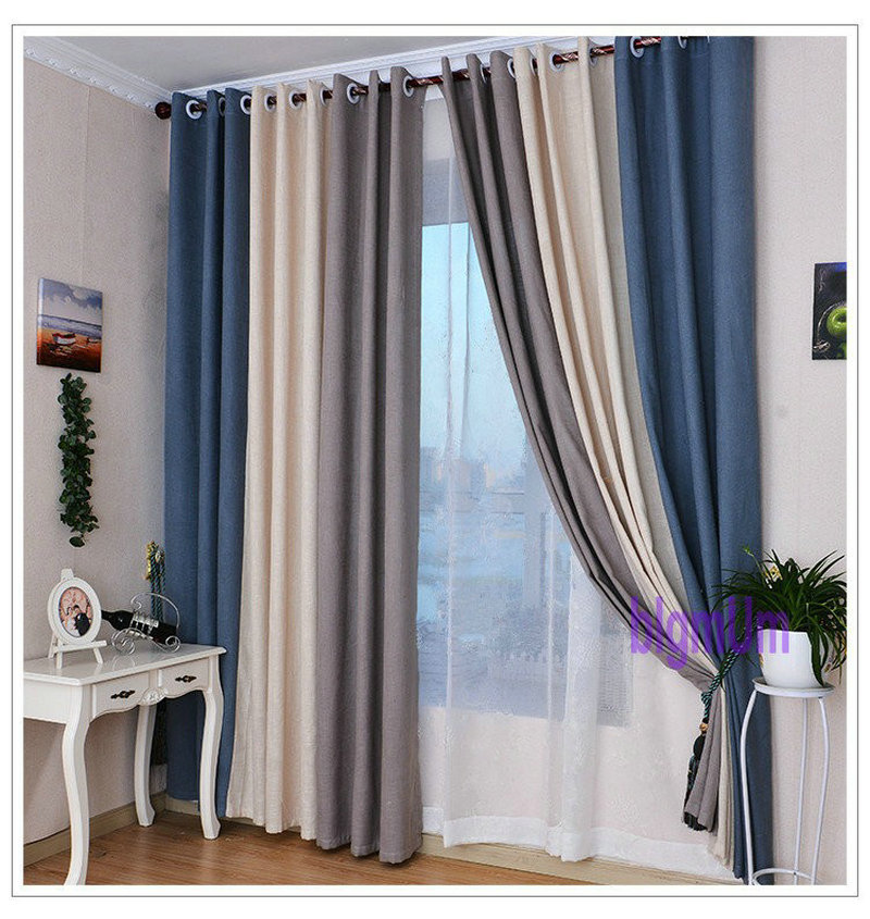Summer Style Linen Curtains For Living Room Blackout Curtain White Red  Beige Blue Grey Green Solid Drapes Patchwork Window Trim In Curtains From  Home ...