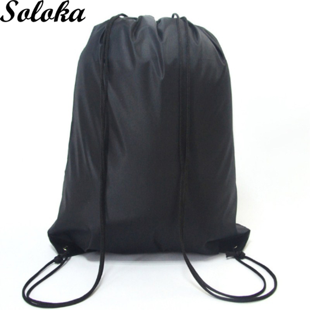 1pc School Drawstring Book Bag Shoe Backpack Travel Sport Portable Uni Polyester Candy Color