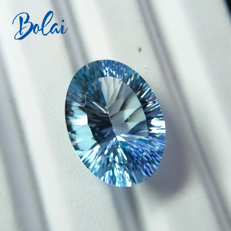 bolaijewelry,100% Natural sky blue topaz oval 15*20mm concave ard 18.45ct loose gemstone for jewelry асмус дж гамбит король воров том 3