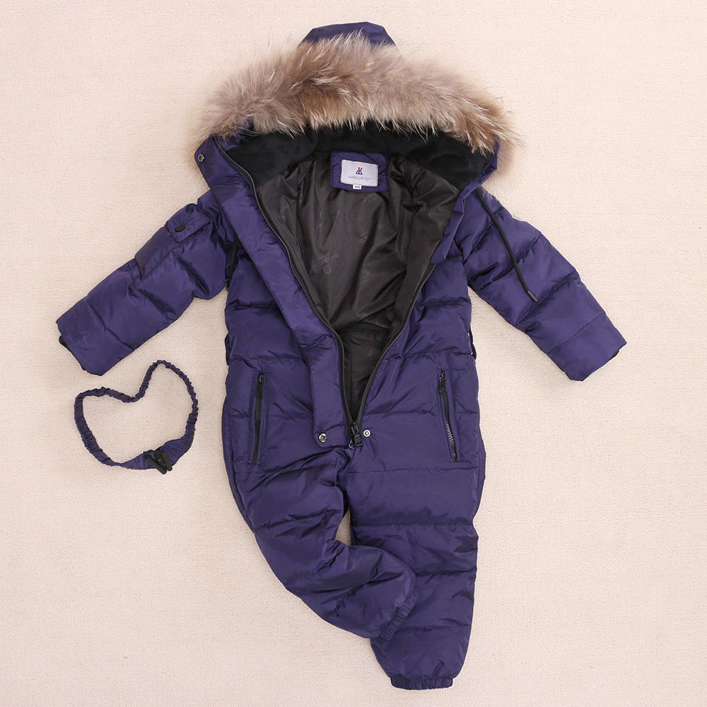 Image 2 - Children Russia Winter  30 Degree Thicken Rompers Baby Boys Warm 