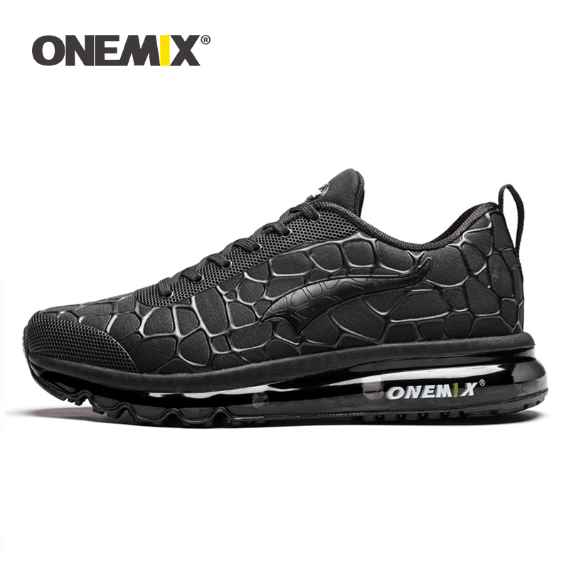 ONEMIX Adult Mens Sneakers Air Cushion Outdoor Athletic Trail Male Trainers Winter Leather Running Tennis Sports Shoes Big Size