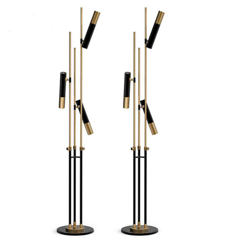 Nordic simple adjustable black aluminum tube floor lamp post-modern bedroom study model room creative floor lamp floor led lamps french garden vertical floor lamp modern ceramic crystal lamp hotel room bedroom floor lamps dining lamp simple bedside lights