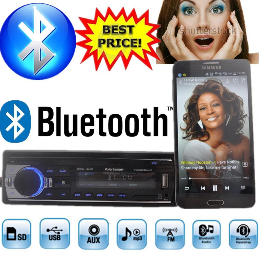 2015 new font b Car b font Radio bluetooth MP3 FM USB 1 Din remote control