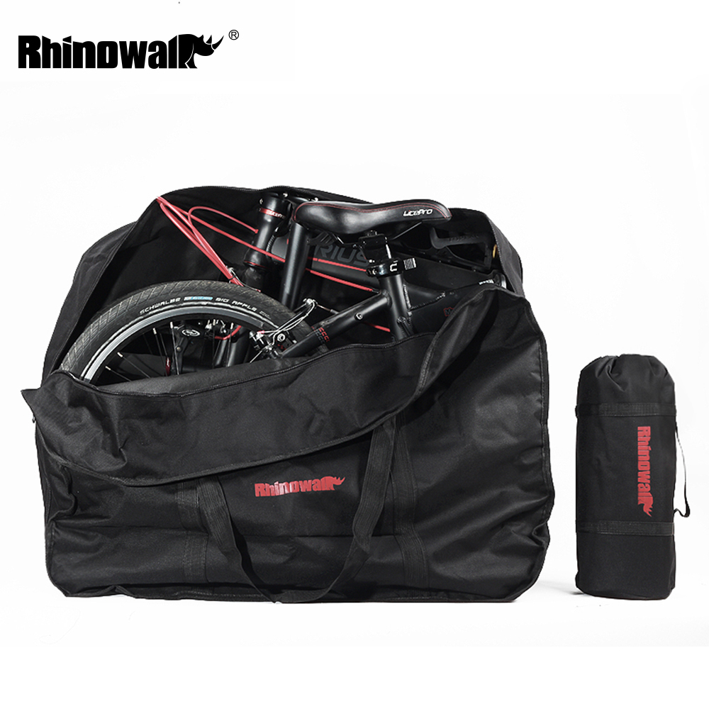 Flash Deal Rhinowalk 14 inch 20 inch Folding Bike Bag Loading Vehicle Carrying Bag Pouch Packed Car Thickened Portable Bicycle Pack 0