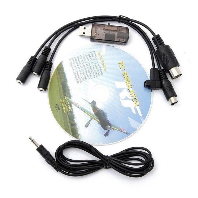 22 en 1 RC USB Cable Simulador de Vuelo para Realflight G7/G6 G5.5 G5 5.0 para FPV Envío Gratis la Más Nueva Versión de Entrenamiento