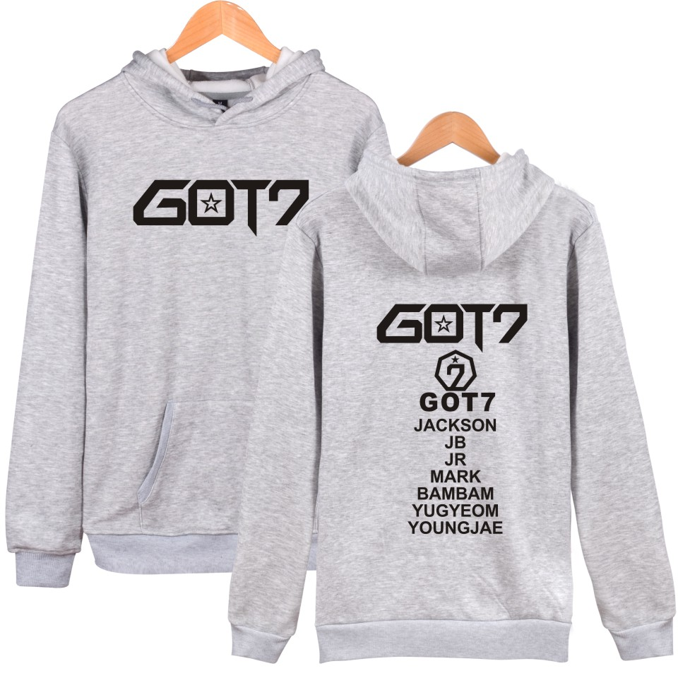SMZY LUCKYFRIDAYF Got7 K-pop Hooded Sweatshirt Women Korean Winter Women Hoodies Sweatshirts Long Sleeve Casual Hip Hop Clothes