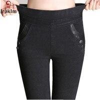 Mulheres calças de brim 2017 Novo Casuais Jeans Skinny Mulheres Calças Pés Pequenos Lápis Calças Plus Size s ~ 4XL LZ682