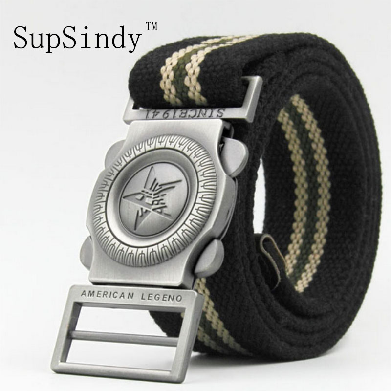 SupSindy men Canvas belt Quick release metal buckle military belt Army tactical belts for men top quality male strap Army green