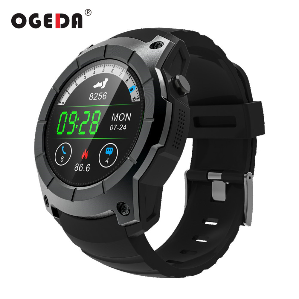 OGEDA Men GPS Smart Watch 2018 Sport Heart Rate Barometer Monitor Smartwatch Multi-sport Model Smart Watch for Android IOS S958 no 1 d5 bluetooth smart watch phone android 4 4 smartwatch waterproof heart rate mtk6572 1 3 inch gps 4g 512m wristwatch for ios