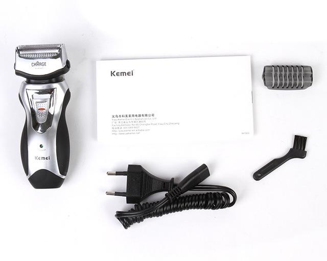 Rechargeable electric shaver kemei razor men beard shaver trimer barbeador face care groomer afeitadora shaving machine
