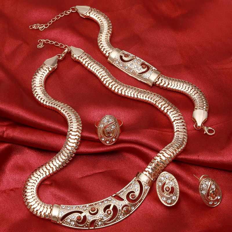 נשים אפריקאיות חתונה שהסיודוס דובאי סטי תכשיטי שרשרת עגיל הגדר להגזים הצהרת כלה אבזר