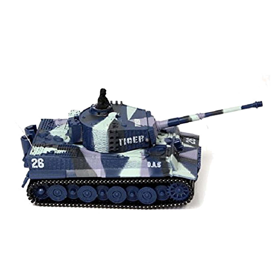 New Mini 1:72 49MHz R/C Radio Remote Control Tiger Tank 20M Kids Toy Gift Army 4 Colors