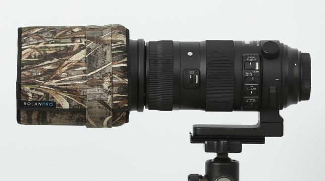 ROLANPRO Professional Camouflage Lens Hood Telephoto Lens Folding Hood for Sigma 120-300mm f2.8 and Sigma 150-600mm sport XS