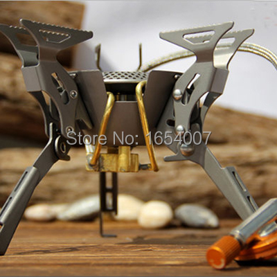 ФОТО New 2017 Fire Maple Titanium Stove Camping Cook Gas Burners Backpack Stove Cooking Outdoor Camping Hiking FMS-100T 2450W
