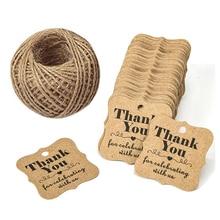 300 pcs DIY Kraft Paper Gift Tags, Thank