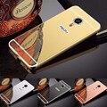 Зеркало Случаи 16 ГБ для meizu m3 note Роскошные Покрытие Броня Алюминий металлический Каркас для meizu m 3 note телефон 32 ГБ Крышки Корпуса Shell