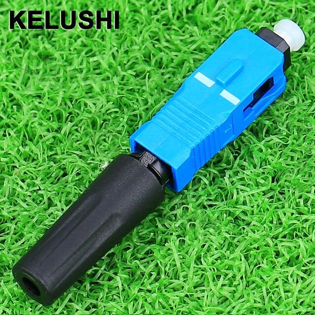Kelushi ftth 100 個シングル/マルチ光のための高速コネクタデジタル通信sc upcクイックコネクタ機器