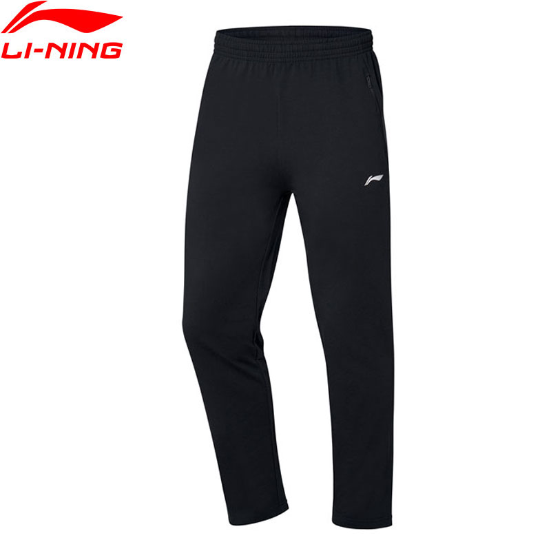 Li-Ning Men Training Sweat Pants 82% Cotton 15% Polyester 3% Spandex Regular Fit Trousers LiNing Sports Pants AKLP331 JAS19(China)