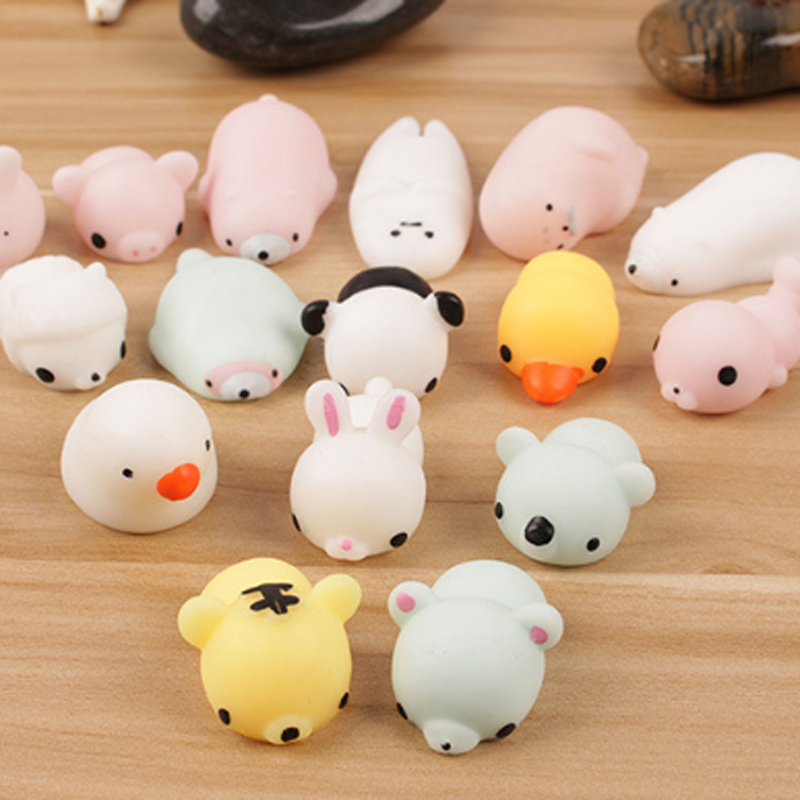 Anti Stress Pets Ball Squeeze Luminous Cartoon Animals Seal Kids Toys for Children Glow in the Dark Gentle Cluster Fluorescence