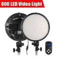 TST 800 PCS LED Video Studio Ring Light w/ 2.4G Remote Dual Color Temperature 3200K 5600K Photography LED DSLR Camera Photo Lamp