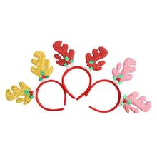 Cute Christmas Decoration Antlers Sequin Fawn Headband Head Buckle Christmas Headwear for Baby Girl Free Shipping
