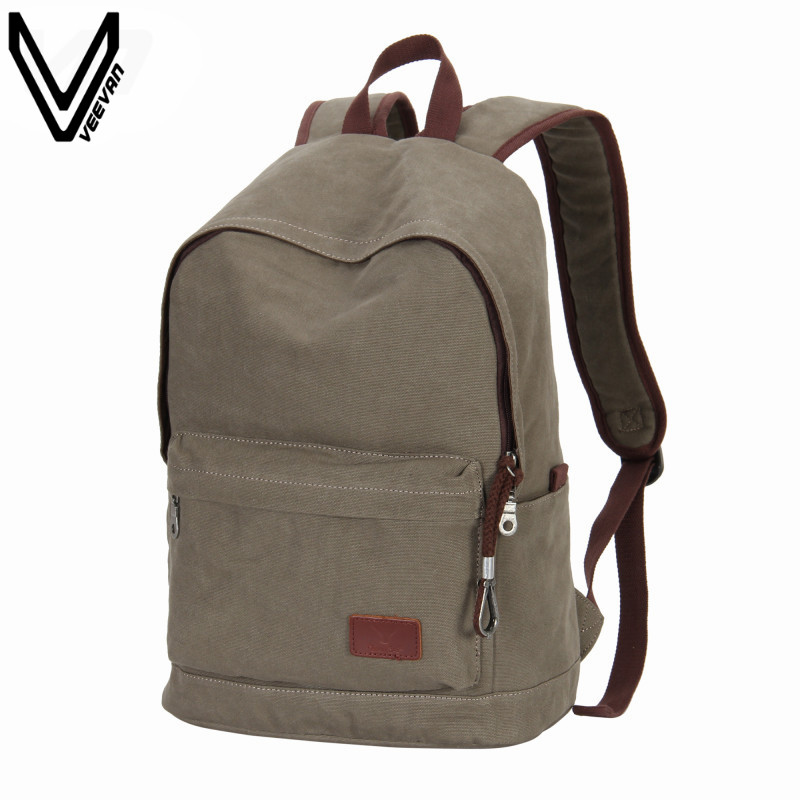 VEEVANV 2016 New Arrival Men Male Canvas Backpack School Bag For Teenager Vintage Mochila Casual Rusksack Bag For School Daypack canvas men s backpack bag teenagers laptop notebook mochila for men waterproof back pack school backpack bag casual daypack