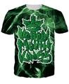 Скрытый Тайник Футболка зеленый дым зеленые листья сорняков лист 3d печати футболка верхняя одежда майки топы hipster для унисекс женские мужчины