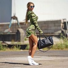 gagaopt autumn Ukraine women's Camouflage hooded dress army green long sleeve sheath mini dresses vestidos robes