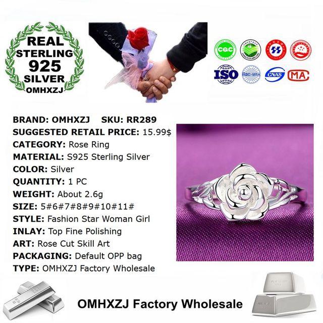Sterling Silver Rose design Ring  2