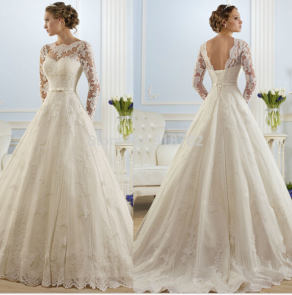 Aliexpress.com : Buy 2016 hot sale beautiful lace Wedding Dresses ...