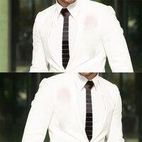 Handmade Plexiglass Glossy Black Men Fashion Necktie Striped Acrylic Neck Ties Black Slim Ties for Groom Wedding Party BTS Shirt
