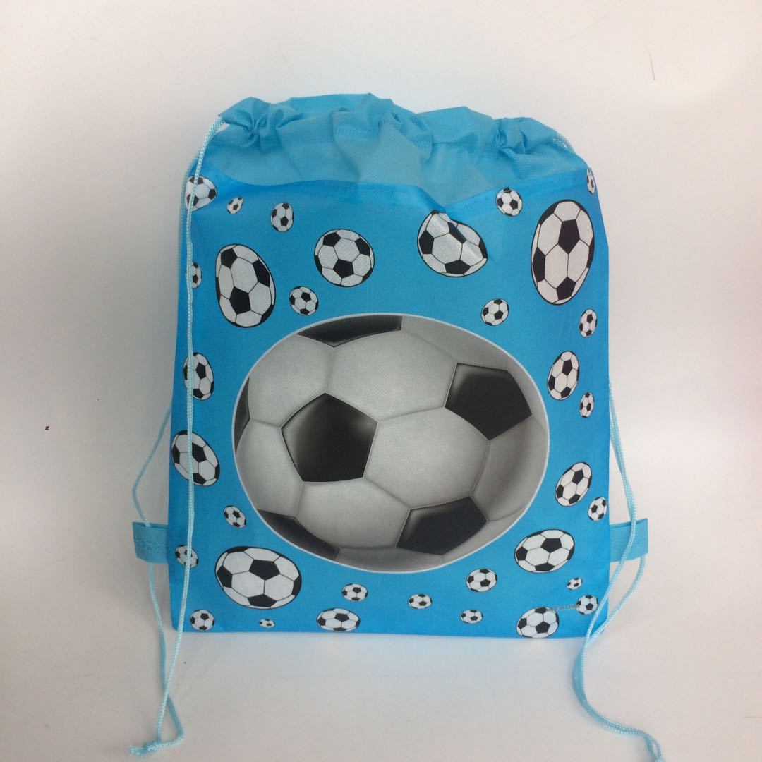 children's footballi world printed backpack for kids school bag for boys and girls bag pouch for snack shoe birthday party gifts zoo animal sweetheart backpack toddler pouch non woven string shoe shourlder school bag for boy and girls birthday party gift