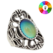 Mojo Vintage Bohemia Retro Color Change Mood Ring Emotion Feeling Changeable Ring Temperature Control Ring for Women MJ-RS013