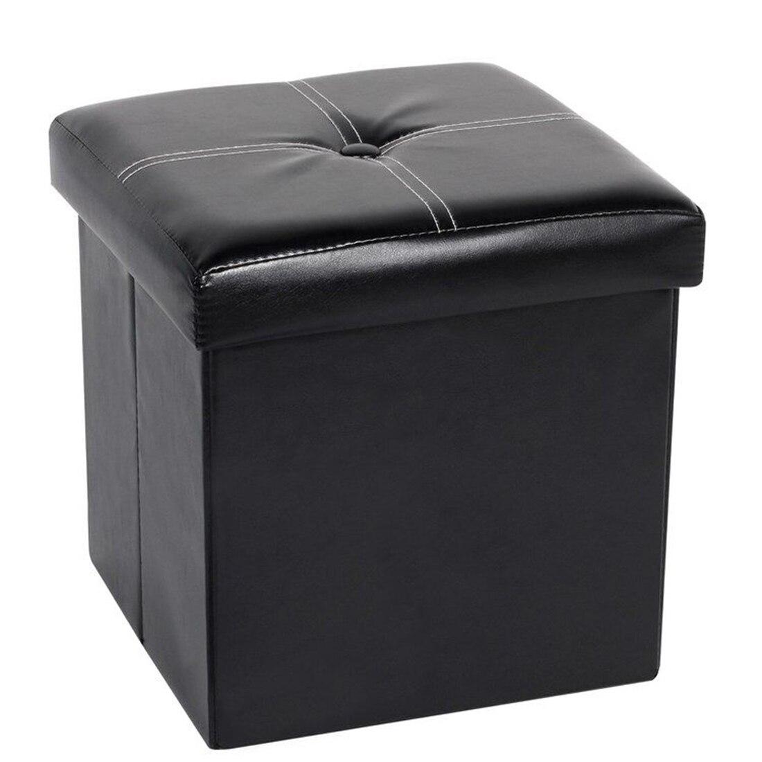 30CM New Fashion Folding Storage Stool Household Decorative Sunderies PU Storage Footstool Storage Box Container Organizer