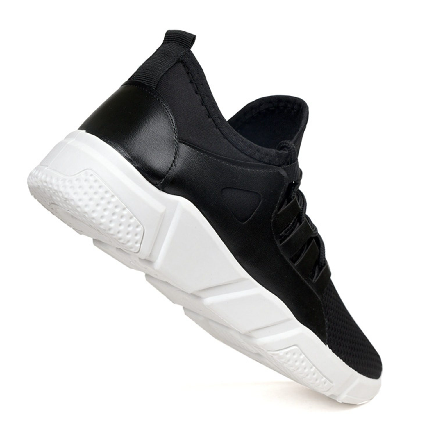 AUAU Fashion Sneakers For Men Shoes Spring Summer Comfortable Breathable Solid Lace-UP Walking Workout Casual Shoes Mesh Shoes