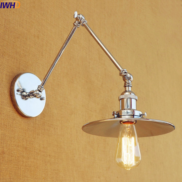 Lights & Lighting 4 Colors Long Arm Vintage Wall Lamp Led Wandlamp Rustic Retro Style Loft Industrial Wall Light Sconce Appliques Lampe Murale