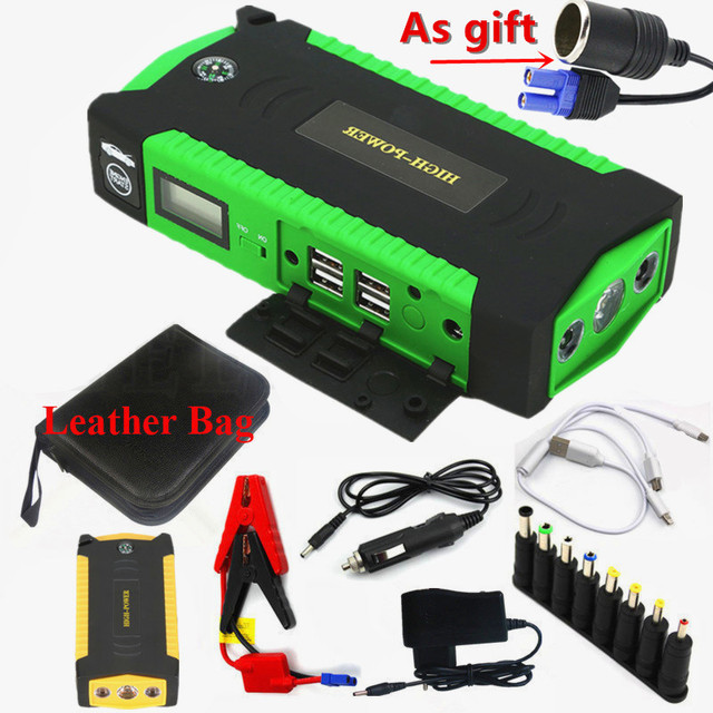 GKFLY Super puissance dispositif de démarrage 12V 600A voiture saut démarreur batterie externe chargeur de voiture pour voiture batterie Booster pour essence Diesel LED 5