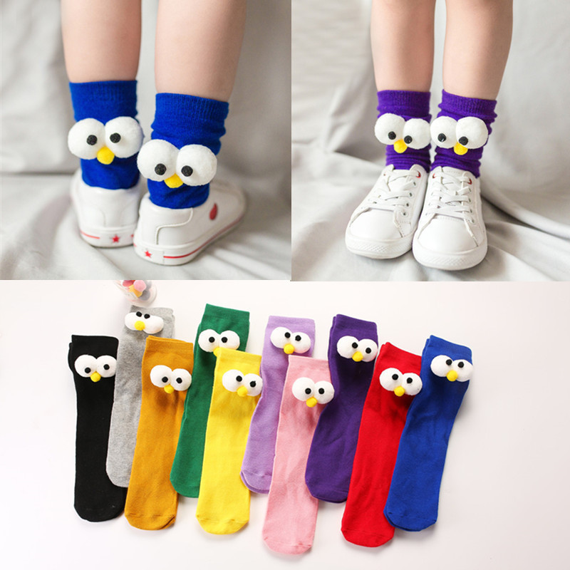 In Socks Three-dimensional Will Eye Directly Canister Around Through Clothes Parenting Socks Lovely Cartoon Baby Heap Socks image