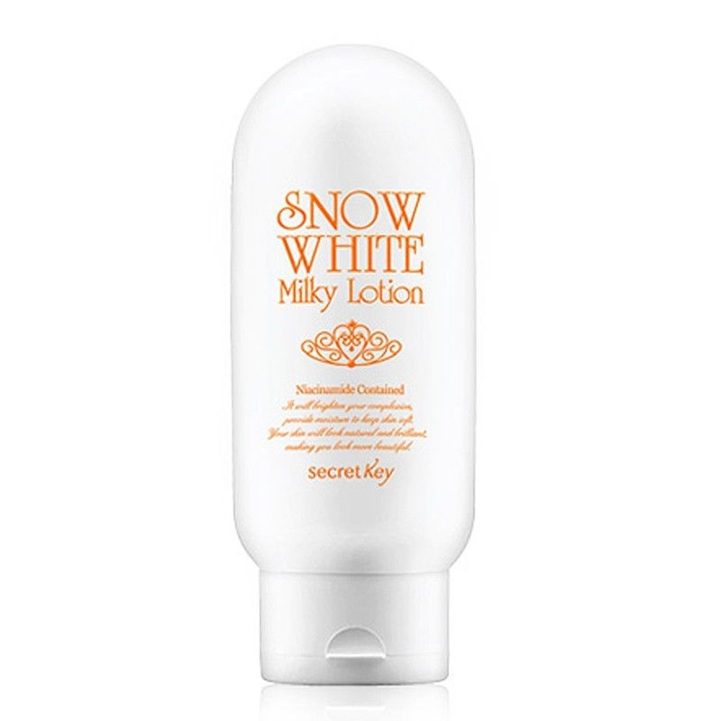 SECRET KEY Snow White Milky Lotion 120g Whitening Face Cream Moisturizing Instant Brightening Effect Face And Body Whitening