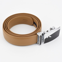 Unisex Genuine Leather Automatic Buckle Belt
