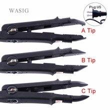 Регулируемый температурный Профессиональный инструмент для наращивания волос с тепловым соединителем из термоплавильного железа+ американский выход